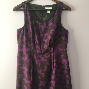 Ann Taylor Loft Petites Dress-Butterfly Print
